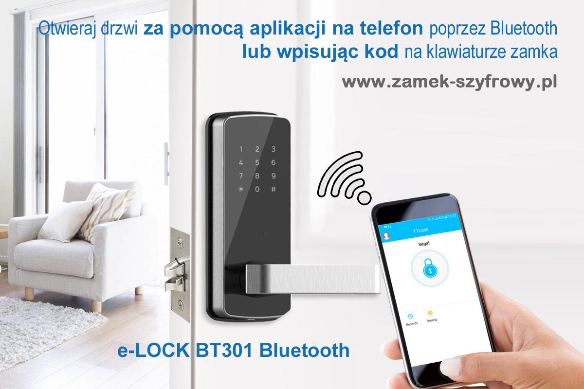 eLOCK BT301 - otwieranie drzwi telefonem