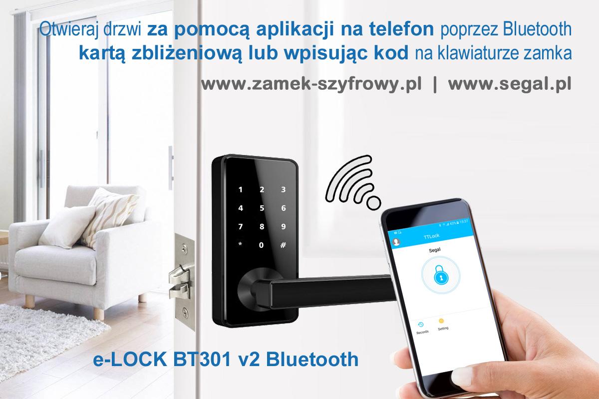 eLOCK BT301 v2 - otwieranie drzwi telefonem