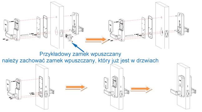Montaż zamka e-LOCK BT301