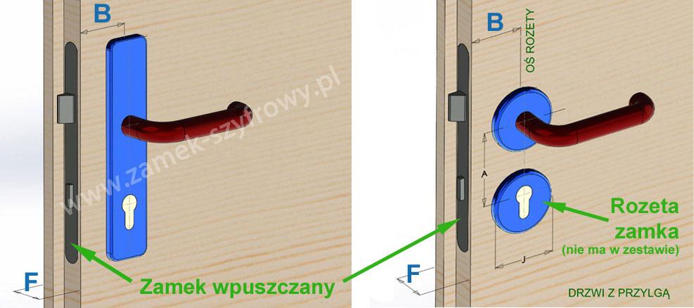 Wymiary drzwi do montażu zamków hotelowych